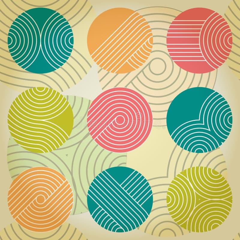 Ornement géométrique sans couture avec des cercles illustration libre de droits