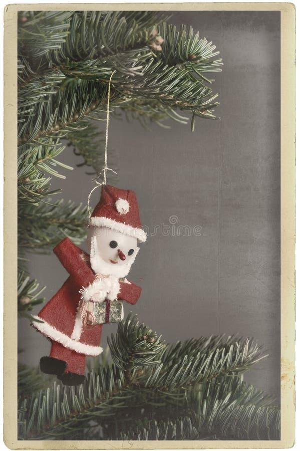 Ornement le père noël d'arbre de Noël de cru photo libre de droits
