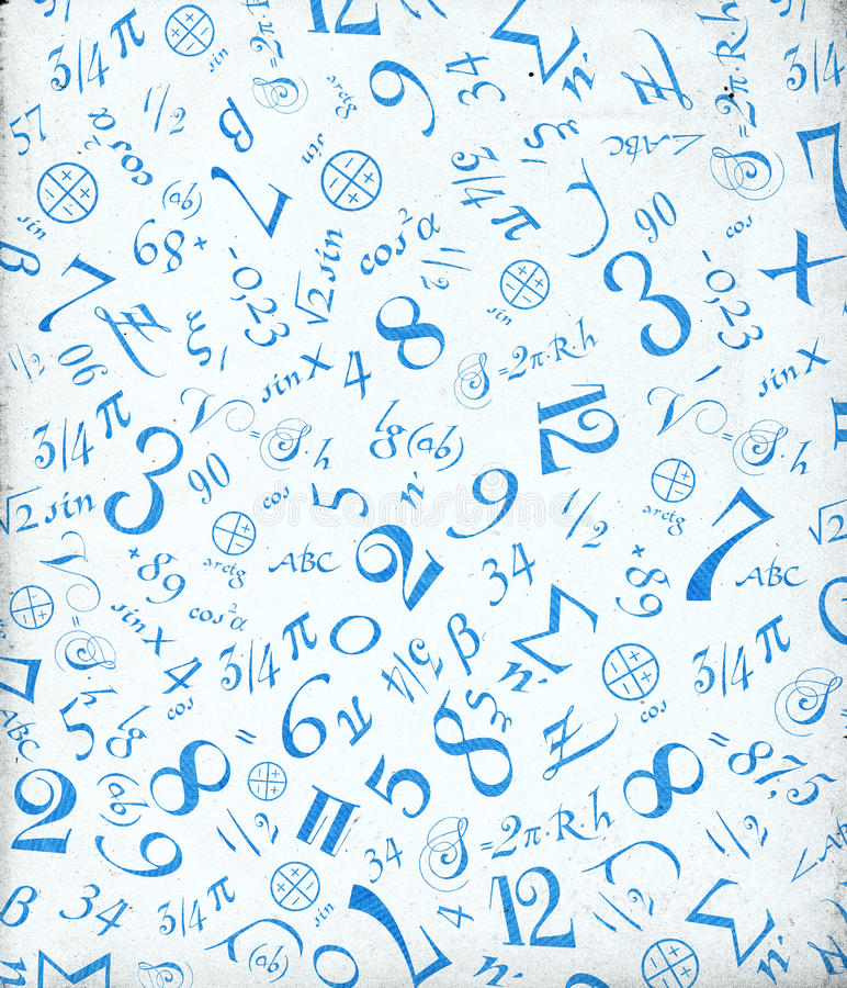 Ornement mathématique illustration stock