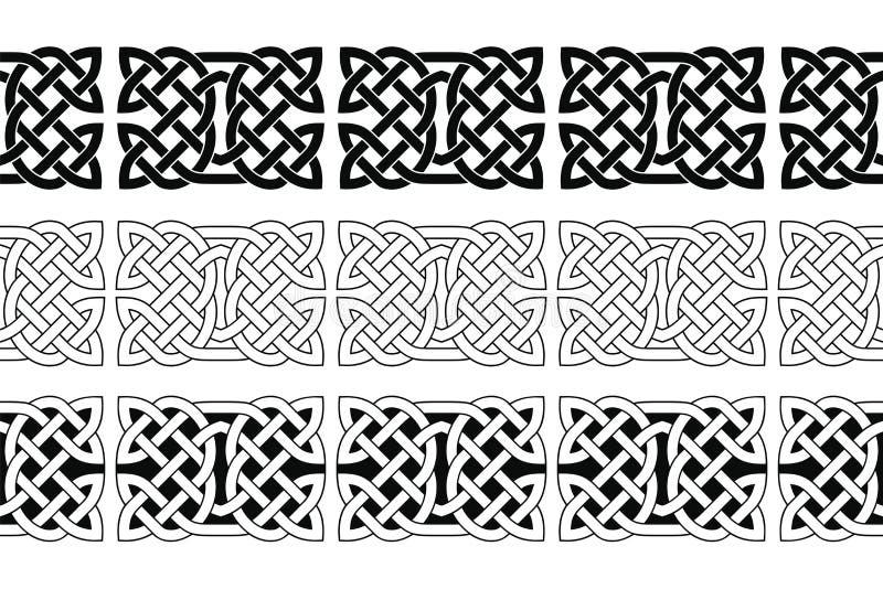 Ornement national celtique sans couture illustration stock