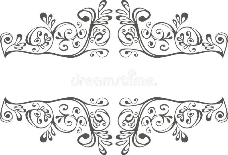 Ornement noir et blanc illustration de vecteur