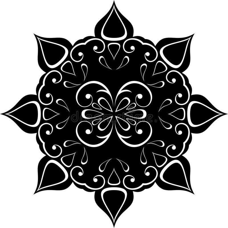 Download Ornement noir rétro illustration de vecteur. Illustration du lame - 8657835