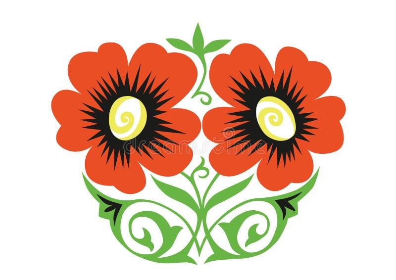 Ornement orange de fleurs photos libres de droits