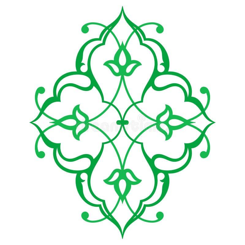 Ornement oriental arabe Motif floral de modèle , illustration de vecteur