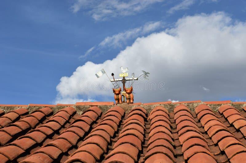 Ornement péruvien de toit photographie stock libre de droits