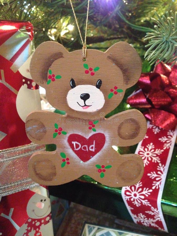 Ornement personnalisé d'arbre de Noël image stock