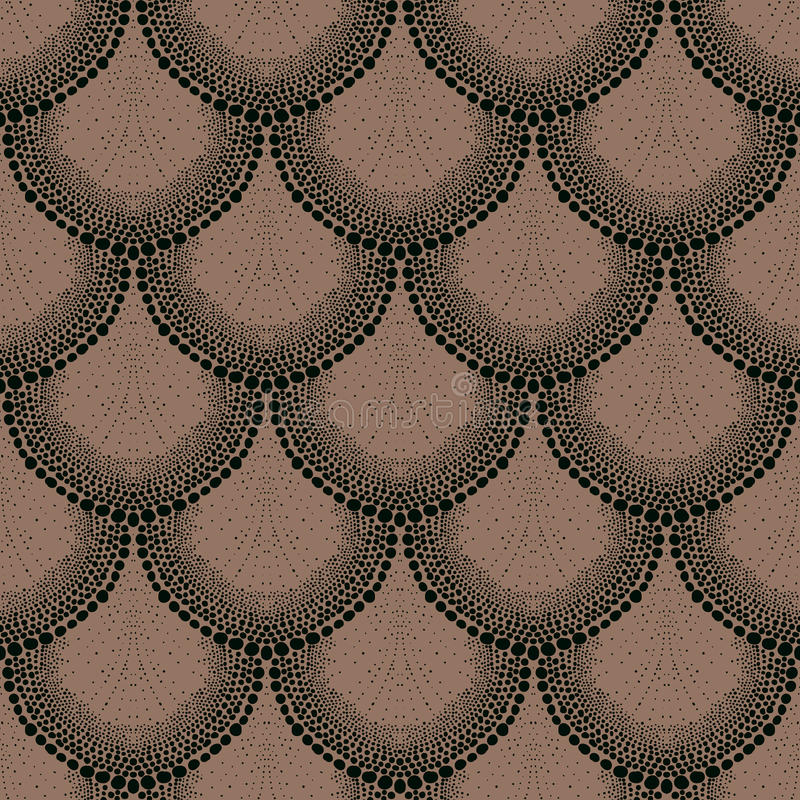 Ornement pointillé audacieux dans le style d'art déco illustration de vecteur