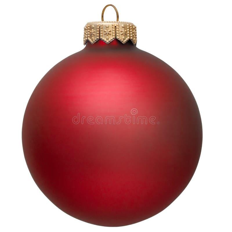 Ornement rouge de Noël. image libre de droits