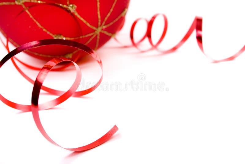 Ornement rouge de Noël photographie stock libre de droits