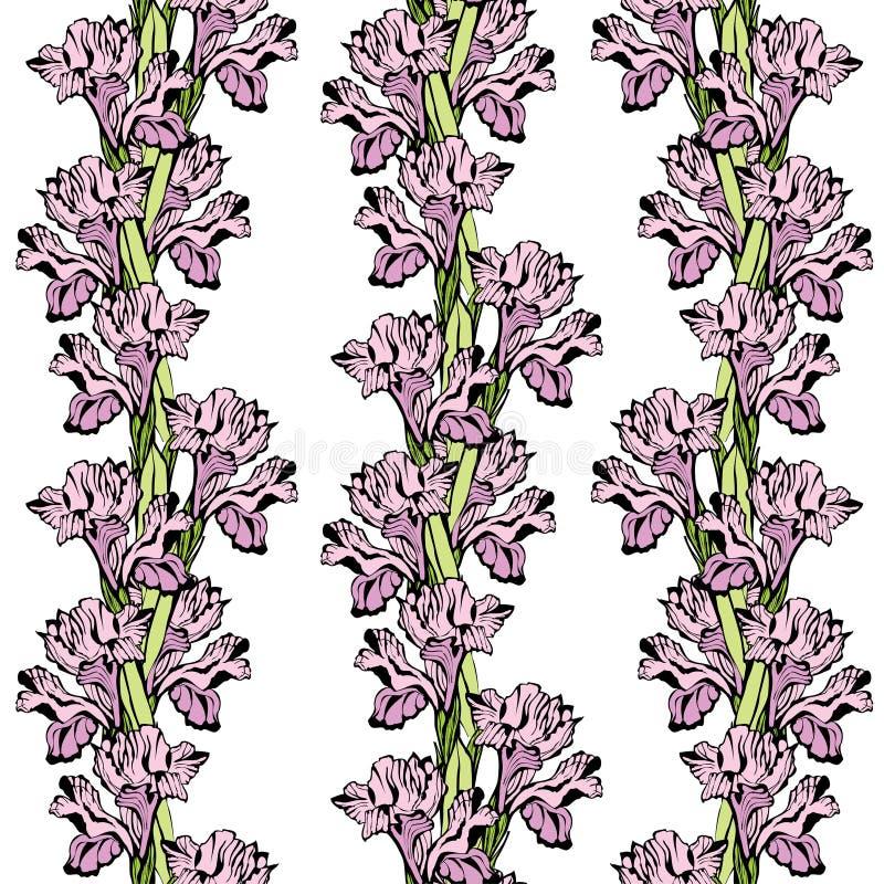 Ornement sans couture d'iris illustration de vecteur