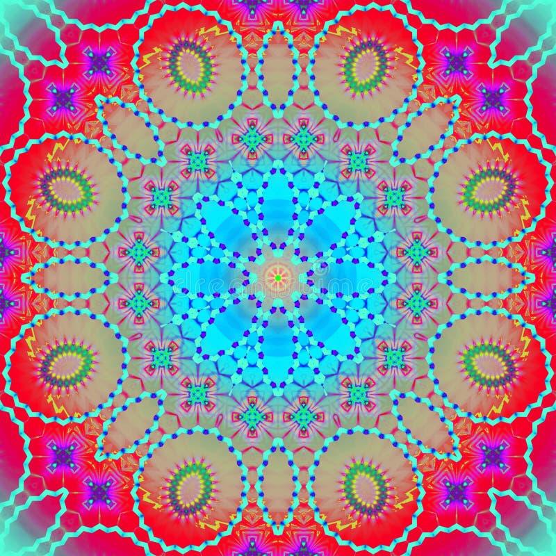 Ornement sans couture de cercle concentrique multicolore illustration stock
