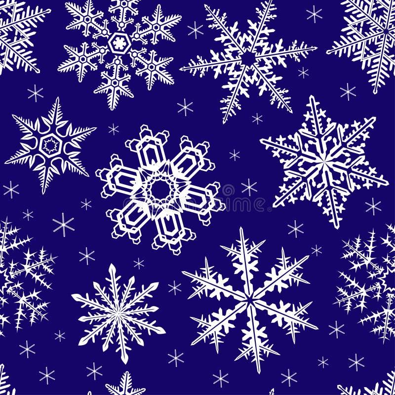 Ornement sans joint avec des flocons de neige illustration stock