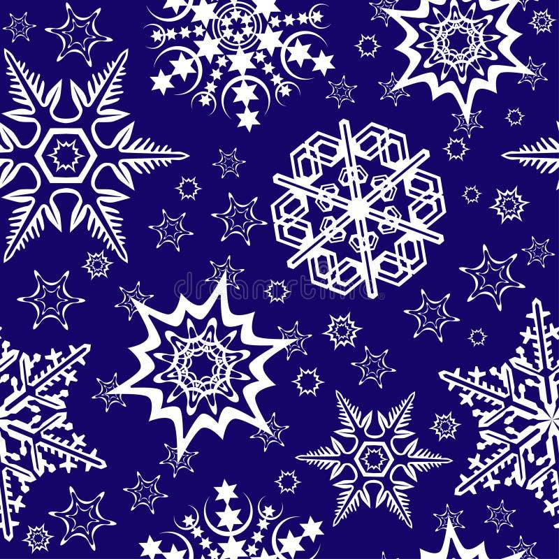 Ornement sans joint avec des flocons de neige illustration de vecteur