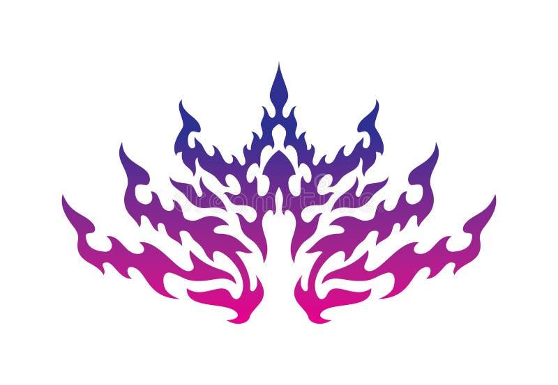 Ornement thaïlandais de flamme de style illustration de vecteur