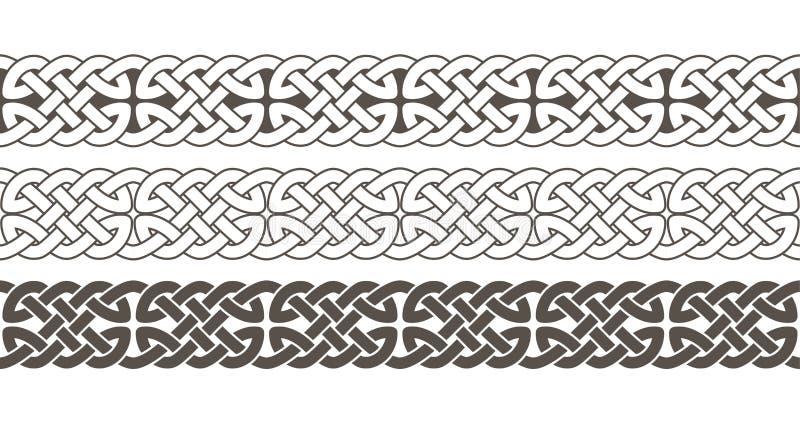 Ornement tressé de frontière de cadre de noeud celtique illustration libre de droits
