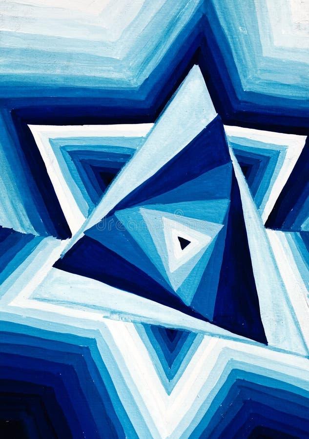Ornement triangulaire géométrique abstrait illustration de vecteur