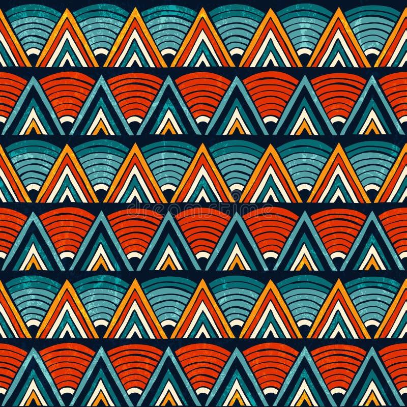 Ornement tribal dans des couleurs vibrantes Fond abstrait sans joint de vecteur illustration de vecteur