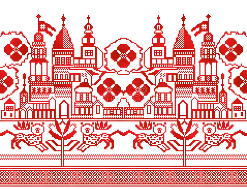 Ornement ukrainien illustration stock