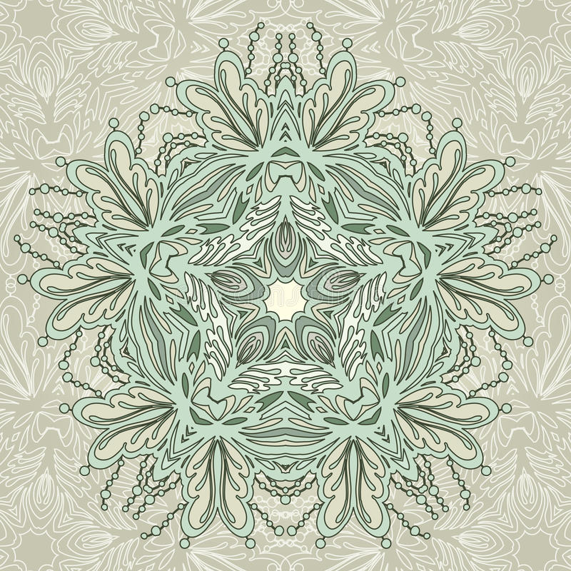 Ornement vert arrondi illustration stock