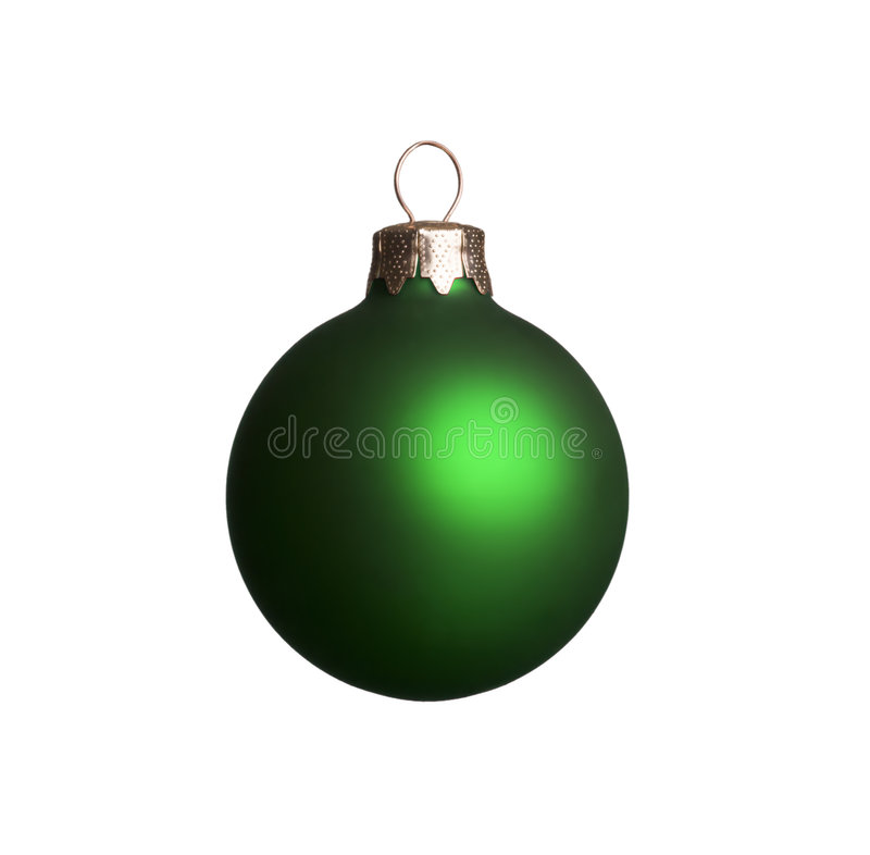 Ornement vert de Noël photographie stock