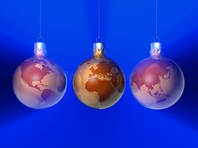 Ornements 9 de Noël illustration libre de droits
