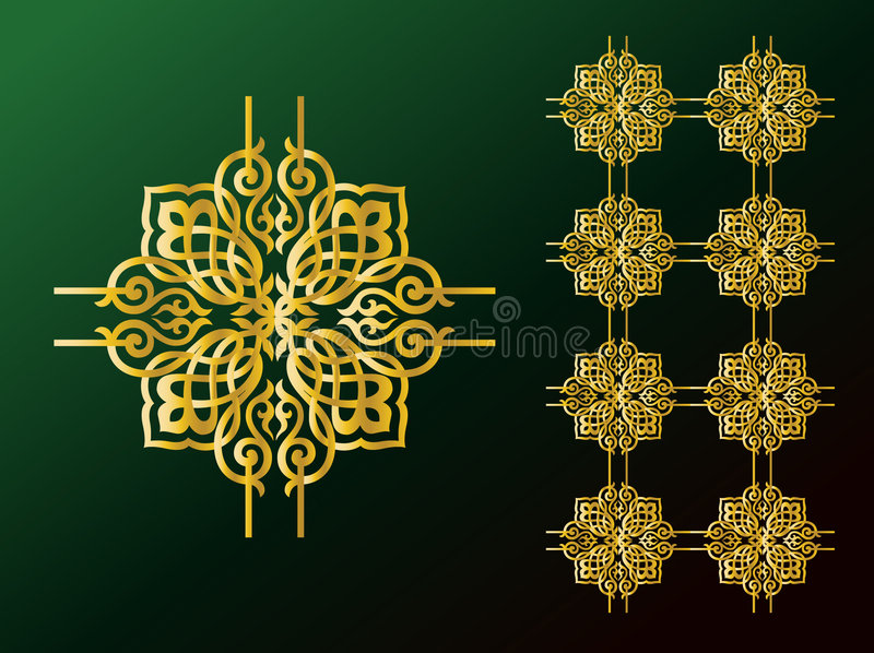 Ornements arabes illustration stock
