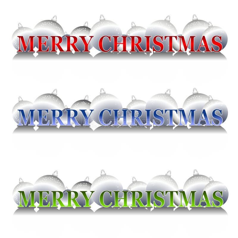 Ornements argentés de Noël illustration stock