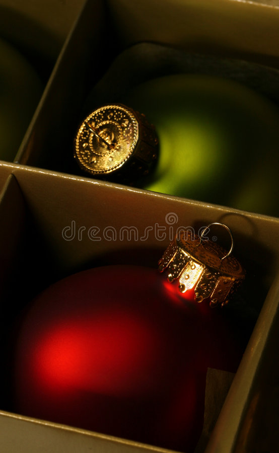 Ornements atmosphériques de Noël photographie stock