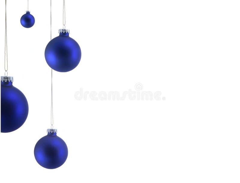 Ornements bleus de Noël photo libre de droits