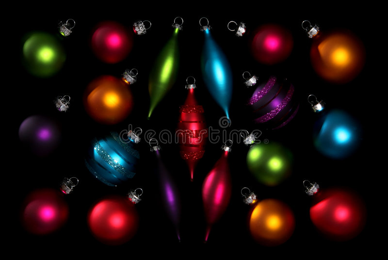 Ornements colorés de Noël image libre de droits