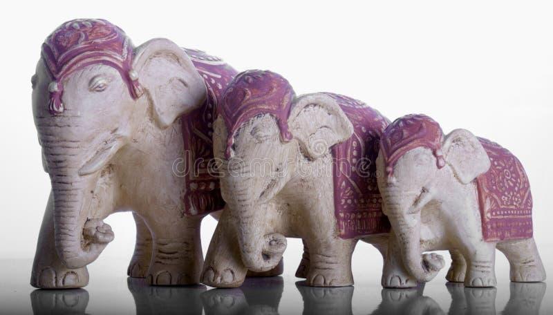 Ornements d'éléphant images stock