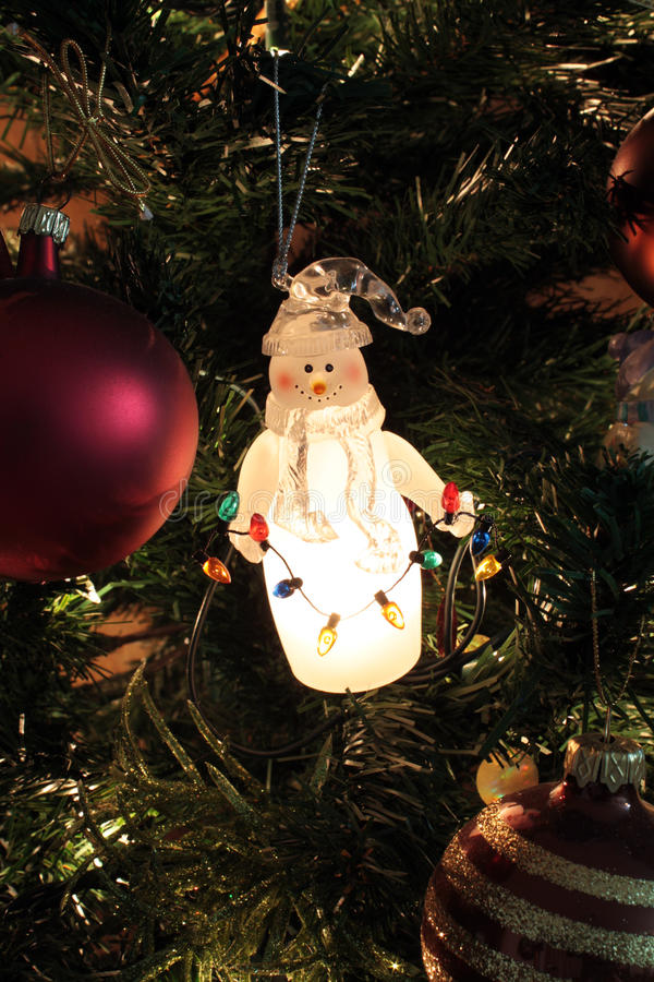Ornements d'arbre de Noël images libres de droits