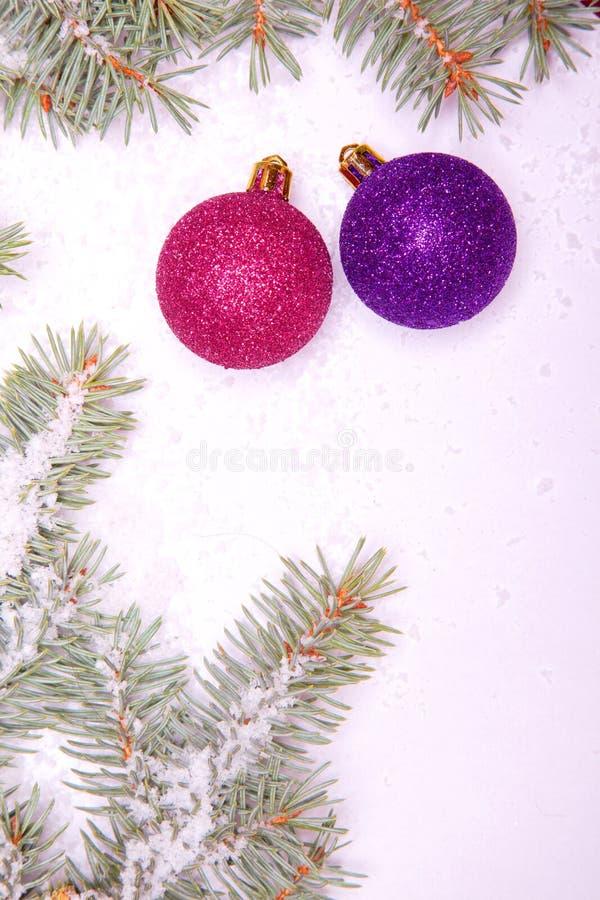 Ornements de bille de Noël photographie stock libre de droits