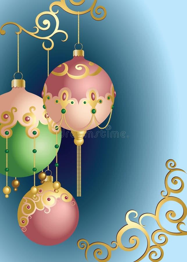 Ornements de bille de Noël illustration de vecteur