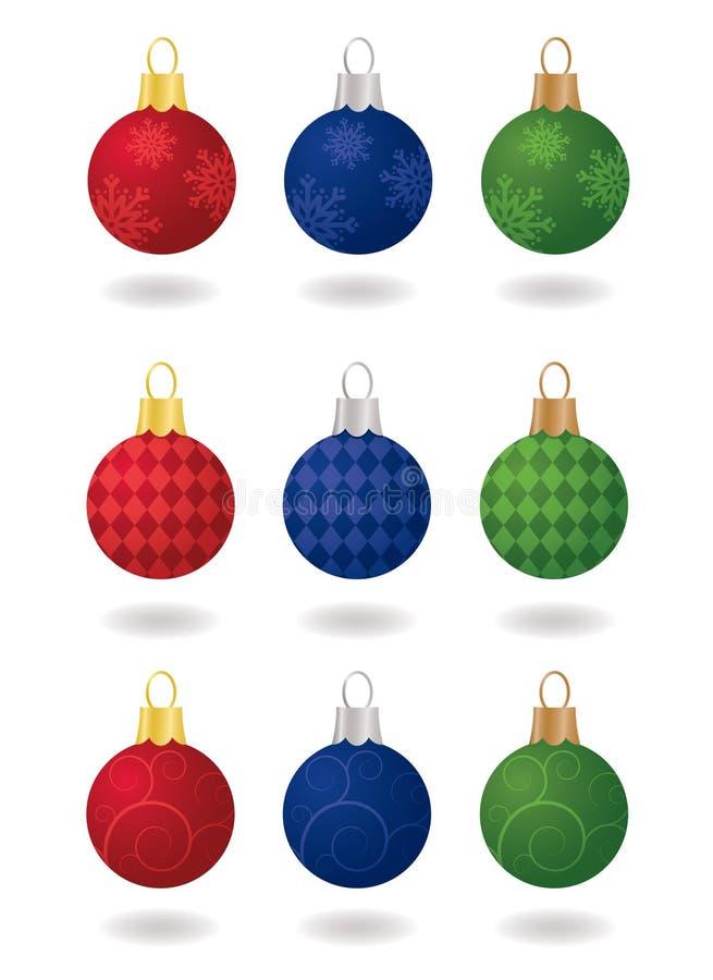 Ornements de fête de Noël illustration de vecteur