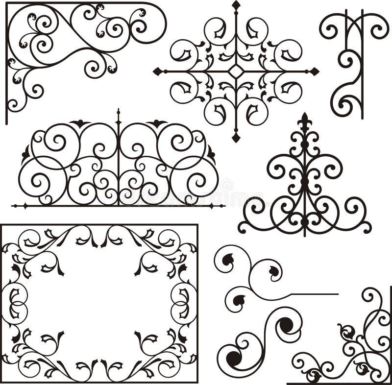 Ornements de fer de Wrough illustration de vecteur