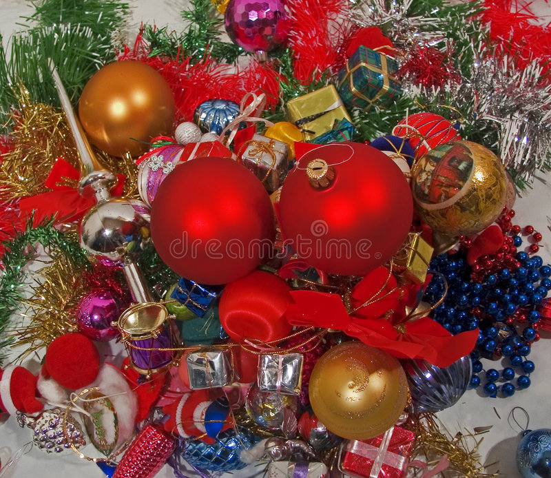 Ornements de Holideys images stock
