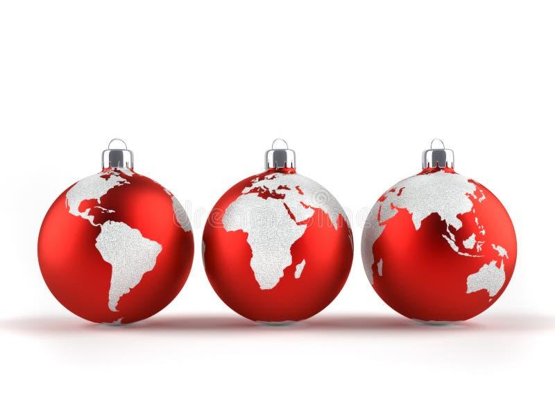 Ornements de Noël illustration libre de droits