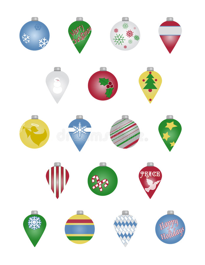 Ornements de Noël illustration stock