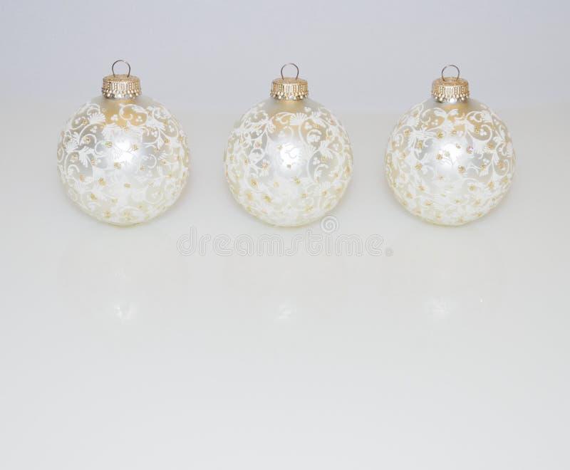 Ornements de Noël décorations de Noël blanches photos stock