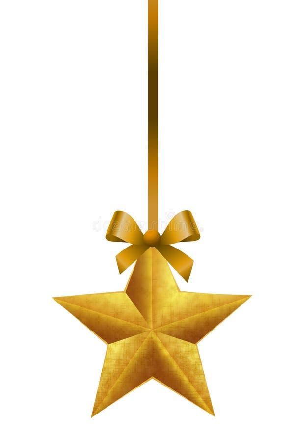Download Ornements De Noël D'or Accrochant Des étoiles Illustration de Vecteur - Illustration du décoration, instruction: 77157808