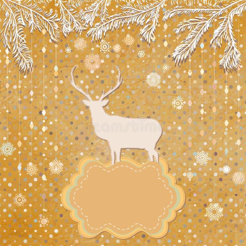 Ornements de Noël faits à partir des flocons de neige. ENV 8 illustration libre de droits