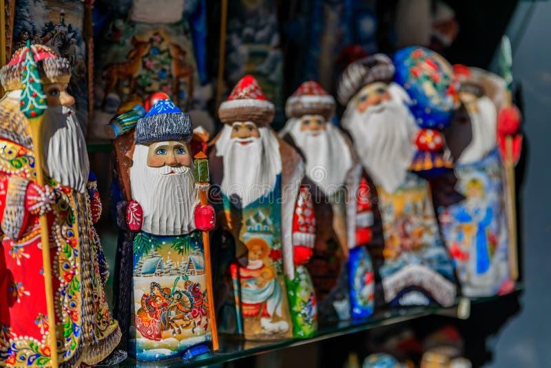 Ornements de Noël de Santa Claus ou Ded Moroz et x28 russes ; Grandfa photo stock