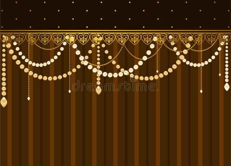 Ornements et programmes de lacet illustration stock