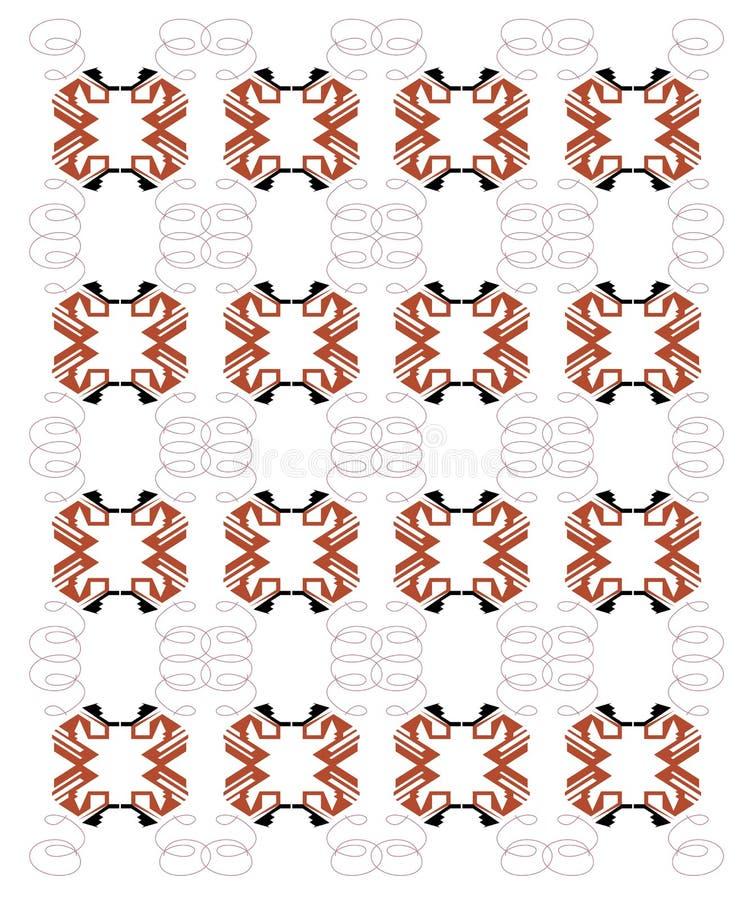 Ornements exotiques de conception sur le blanc Aztèques roses illustration libre de droits