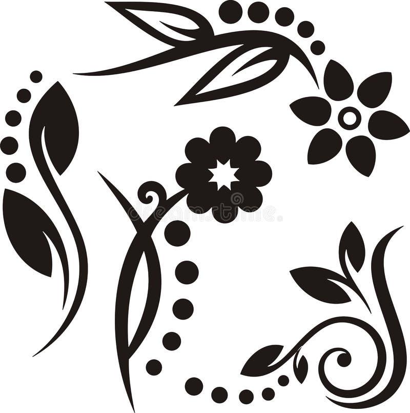 Ornements floraux illustration libre de droits