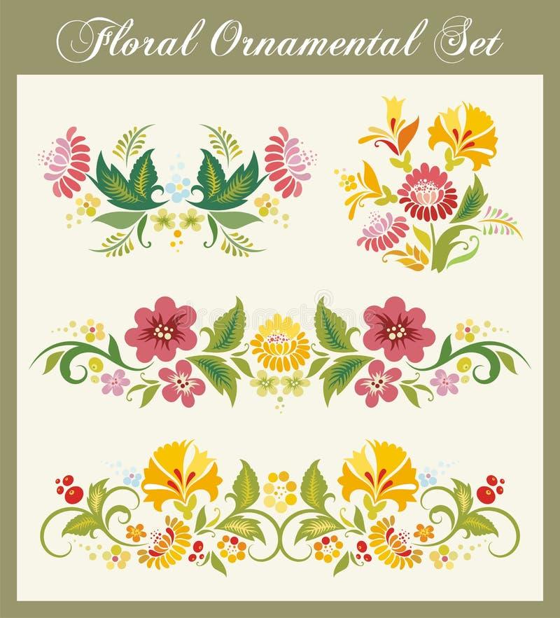 Ornements floraux de cru illustration libre de droits