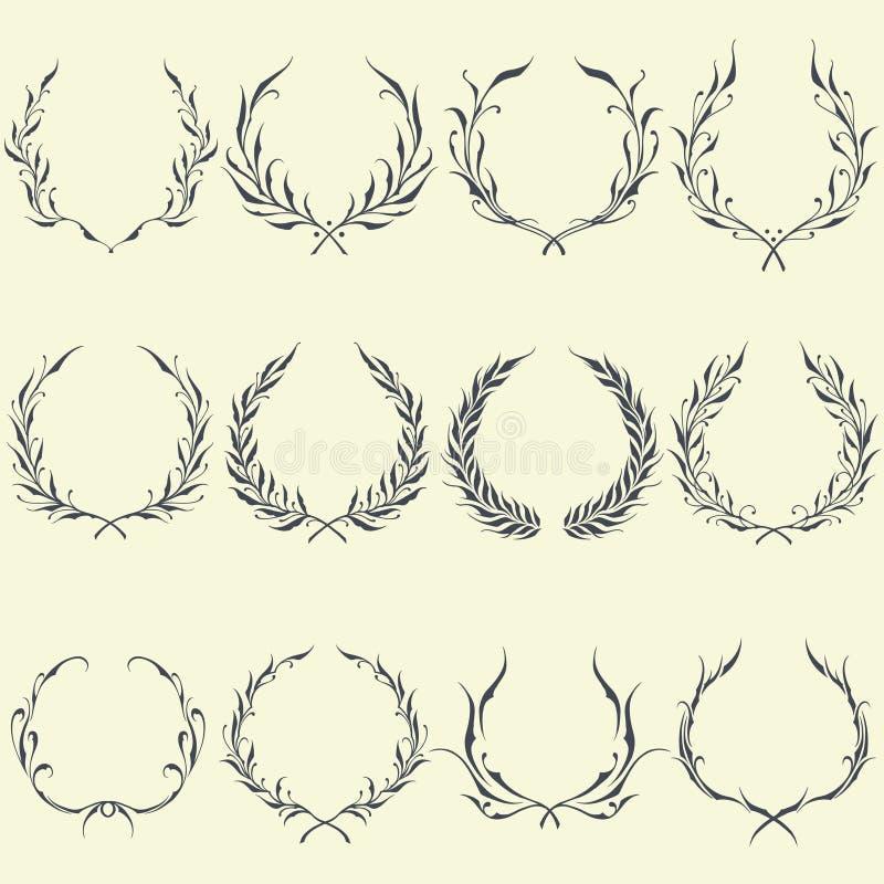 Ornements floraux de guirlande illustration de vecteur