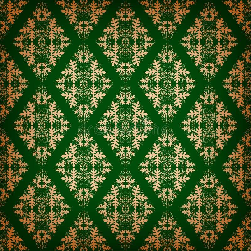 Ornements floraux sur un fond foncé illustration de vecteur