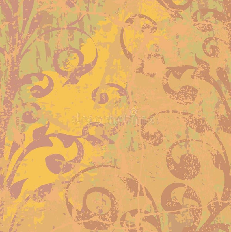 ornements grunges floraux de fond illustration de vecteur